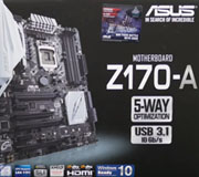 ASUS Z170-A Motherboard Unboxing and Overview