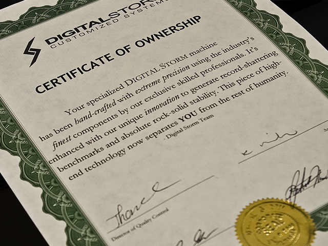 certificate of ownership sample