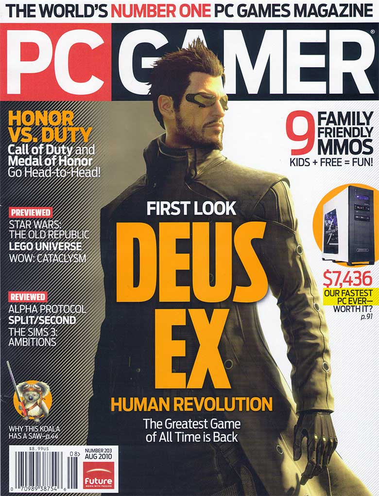 PC Gamer Magazine: 82/100 Score - August 2010 | By: Alex ...