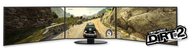 Dirt 2 on ATI Eyefinity 3 Monitor