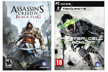 Splinter Cell Blacklist, and Assassin's Creed Covers